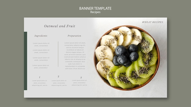 Plantilla web de banner de ensalada de frutas