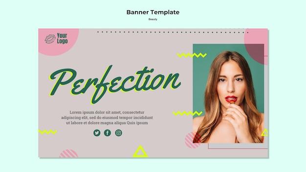Plantilla web de banner de perfección