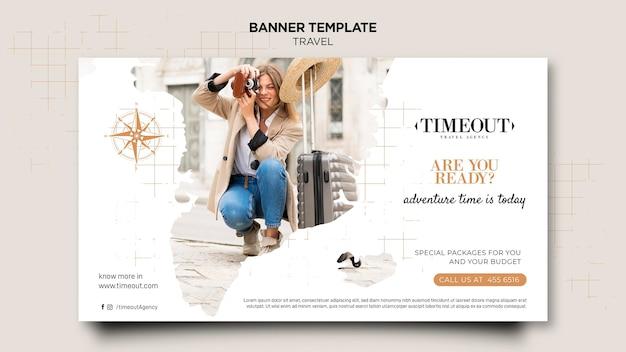 Plantilla web de banner de viaje