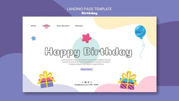 Plantilla web de celebración de cumpleaños