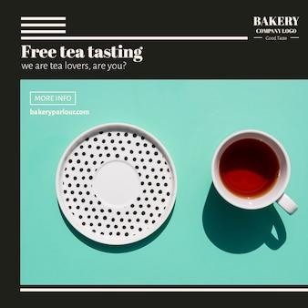 Plantilla web para el concepto de negocio de té