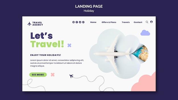 Plantilla web de concepto de viaje