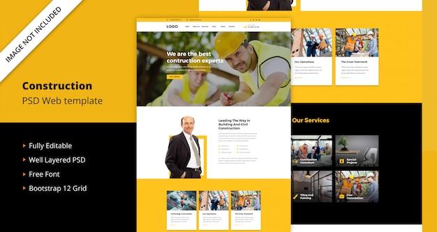 Plantilla web de construcción