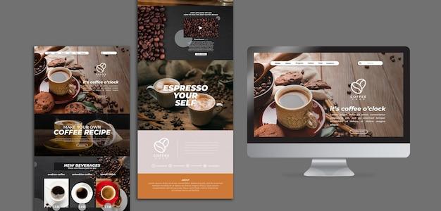 Plantilla web de delicioso café