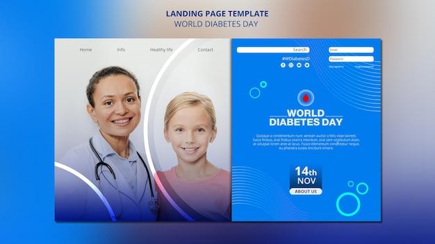 Plantilla web del día mundial de la diabetes