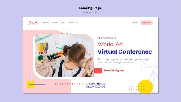 Plantilla web del día mundial de los gráficos