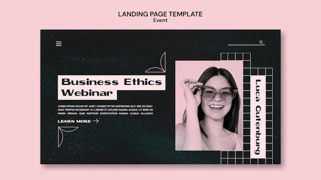Plantilla web para eventos empresariales