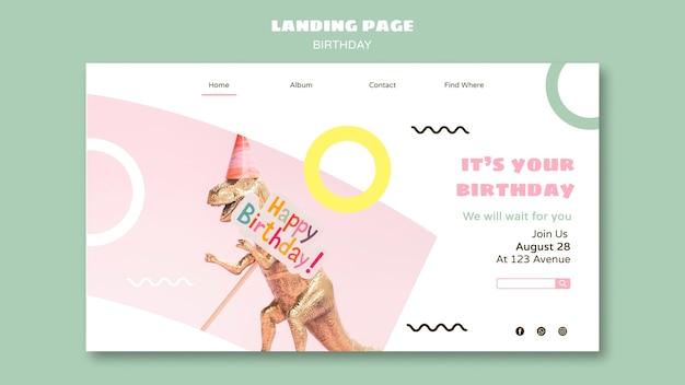Plantilla web feliz cumpleaños