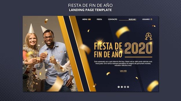 Plantilla web fiesta de fin de ano