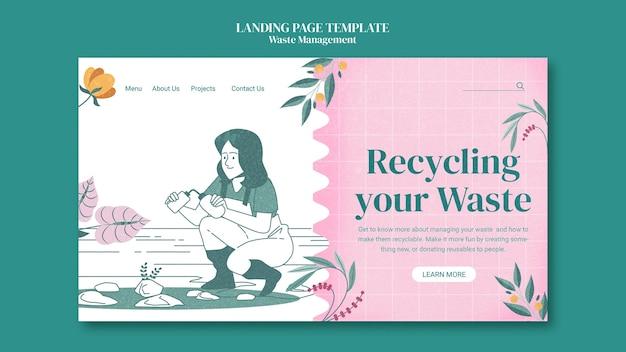 Plantilla web de gestión de residuos
