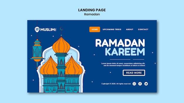 Plantilla web ilustrada de ramadan kareem