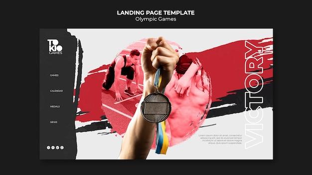 Plantilla web de juegos olímpicos