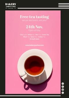 Plantilla web de marketing para el negocio del té