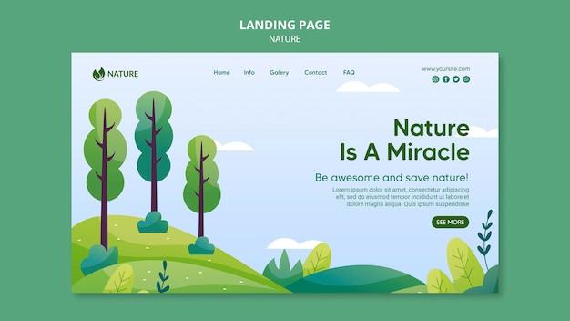Plantilla web la naturaleza es la clave de la vida