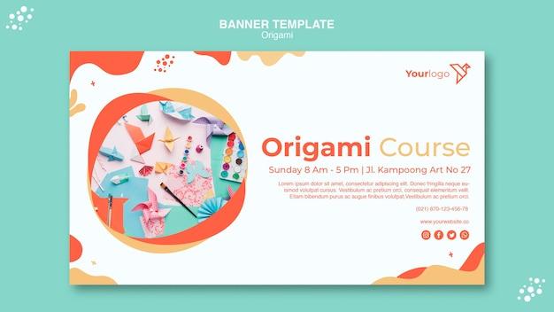Plantilla web de página de destino de origami