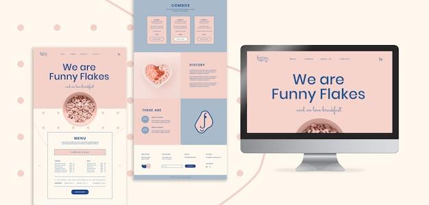 Plantilla web de publicidad en línea para restaurante