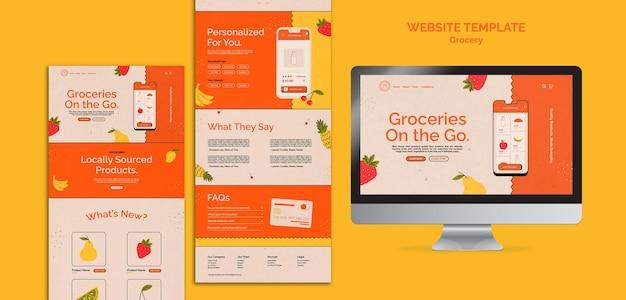 Plantilla web de servicio de entrega de comestibles