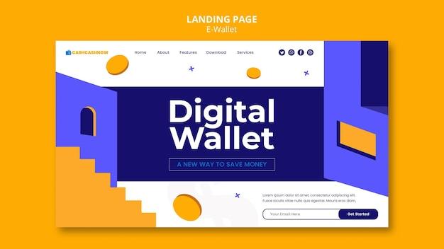 Plantilla web de servicios de billetera electrónica