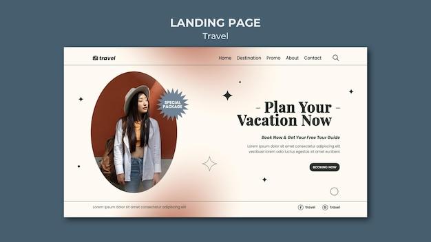 Plantilla web de tiempo de viaje