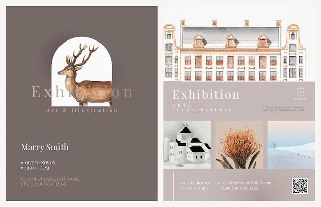 Plantillas para folletos de exposiciones de arte