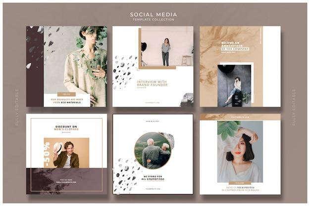 Plantillas de redes sociales de moda
