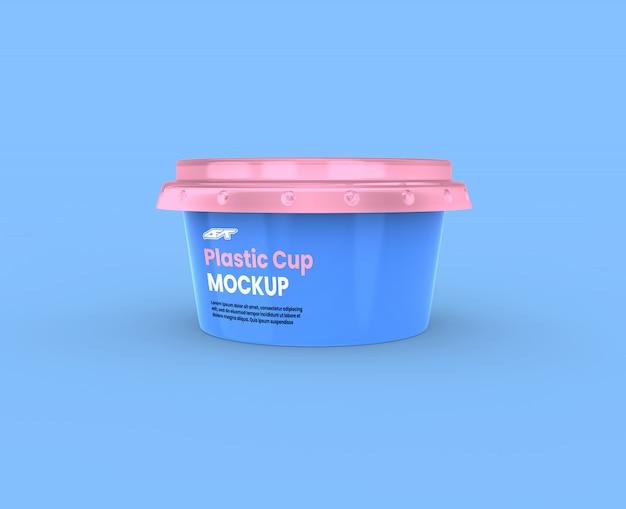 Plastic beker mockup