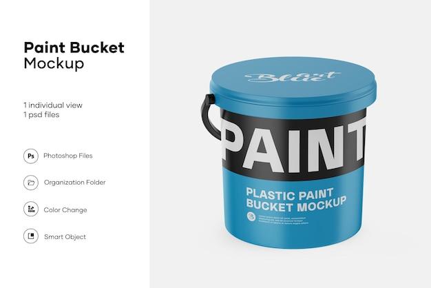 Plastic emmer voor doekjes mockup