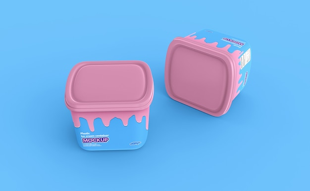 Plastic ijsbakdoosmodel