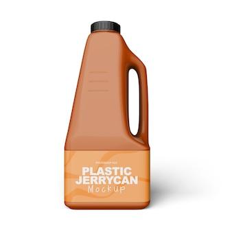 Plastic jerrycan mockup geïsoleerd
