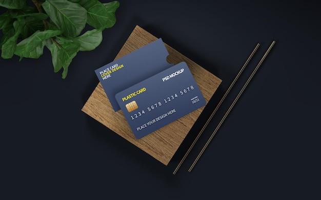Plastic kaart en omslagmodel