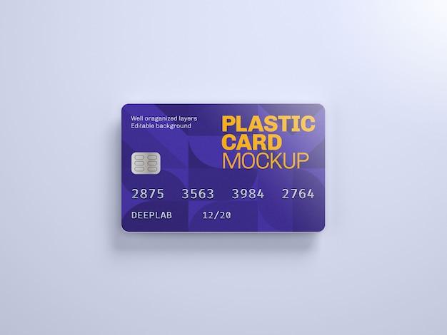 Plastic kaartmodel met bewerkbare achtergrondkleur