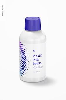 Plastic pillen fles mockup