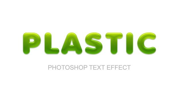 Plastic tekst effect