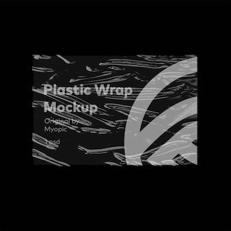 Plastic wrap poster mockup