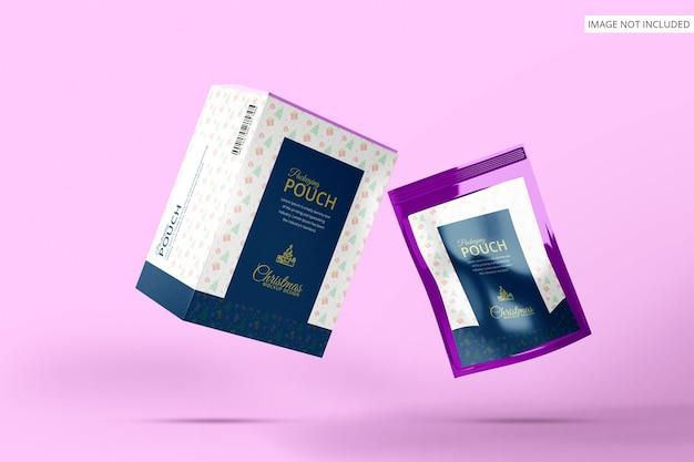Plastic zak folie zak verpakking pakket met doos voor kerstmis
