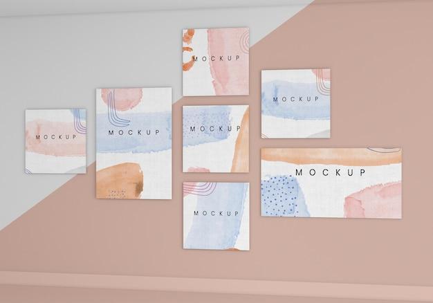 Plat lag beschilderd canvas arrangement