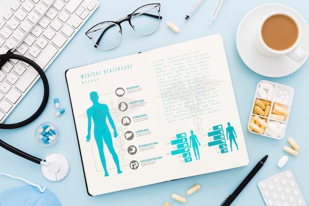 Plat lag medisch bureau concept