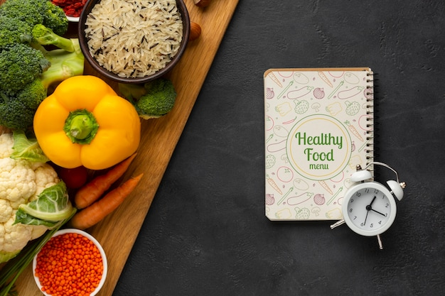Plat lag time management concept voor dieet