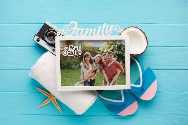 Plat lag vakantie familie frame
