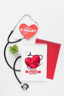 Plat leggen gezondheidsdag mock-up vetplant
