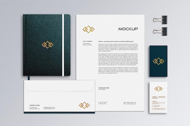 Plat leggen van branding briefpapier logo mockup