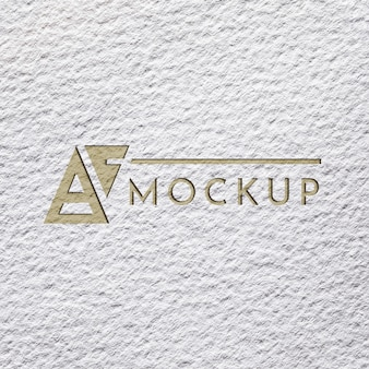 Plat leggen van grof papier mock-up voor bedrijven