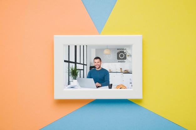 Plat leggen van minimalistisch frame