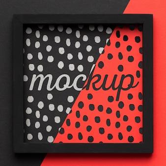 Plat leggen van mock-up frame-ontwerp