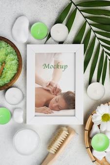 Plat leggen van spa concept mock-up