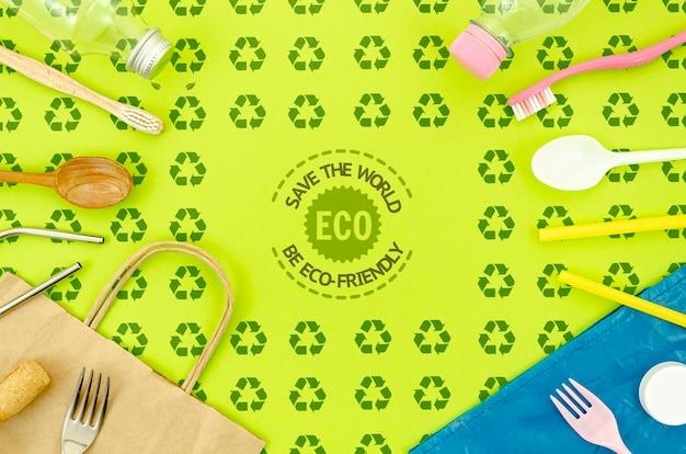 Plat milieuvriendelijk tafelgerei