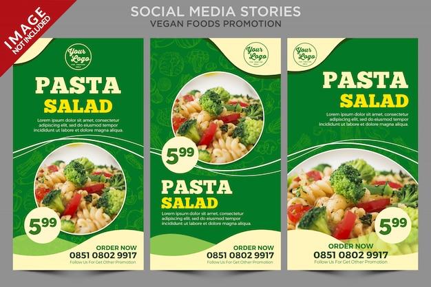 Platte lay van voedsel menusjabloon promotie