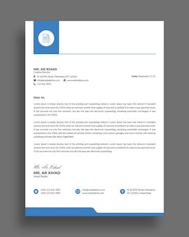 Platte minimale zakelijke briefhoofd sjabloonontwerp