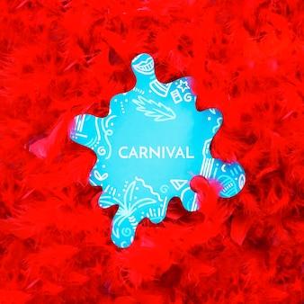 Plumas de carnaval brasileño con recorte