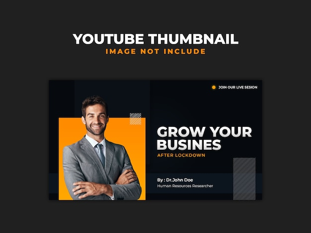 Podcast business marketing youtube thumbnail-sjabloon